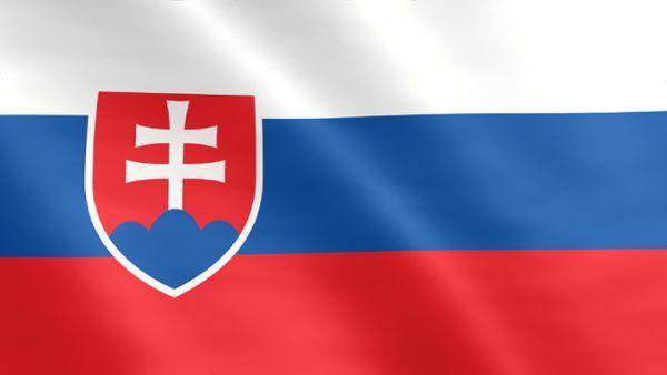 Animierte Flagge der Slowakei