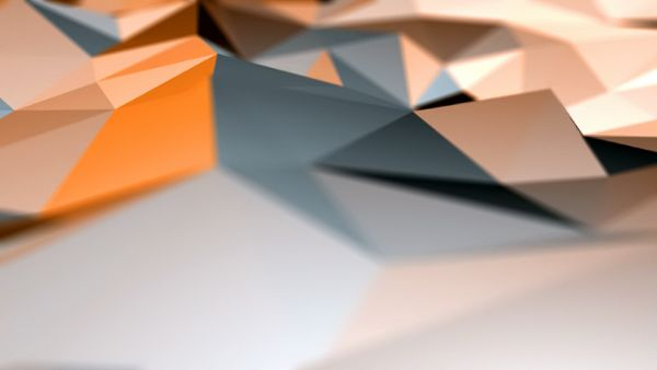 Low Poly Shapes Surface