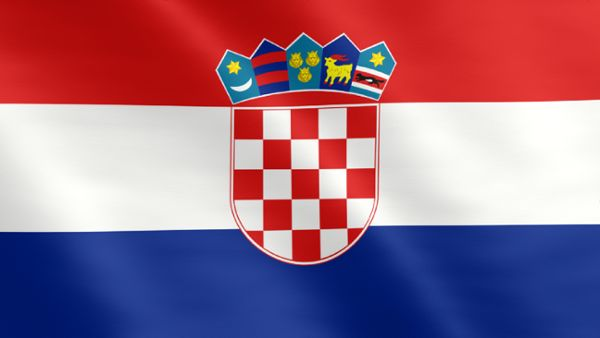Animierte Flagge von Kroatien