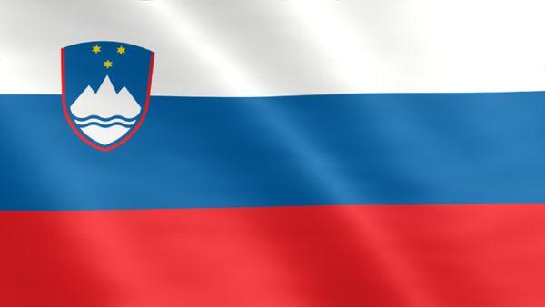 Animierte Flagge von Slowenien