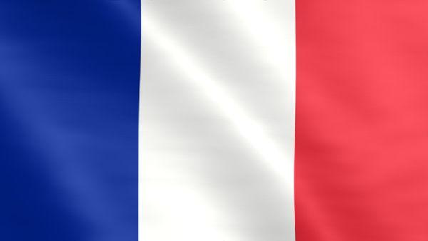 Animierte Flagge von Frankreich