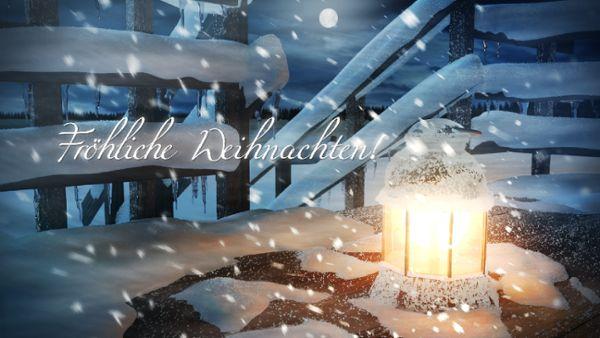 Xmas Laterne intro - Fröhliche Weihnachten