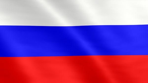 Animierte Flagge von Russland