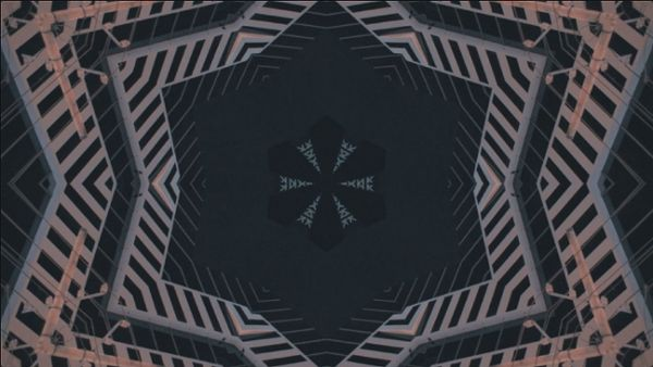 Building with kaleidoscope style shot