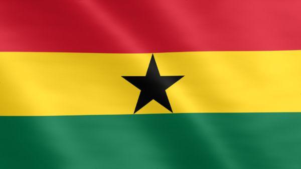 Animierte Flagge von Ghana
