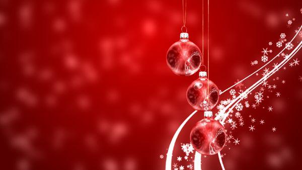 Rote Weihnachtskugeln Loop