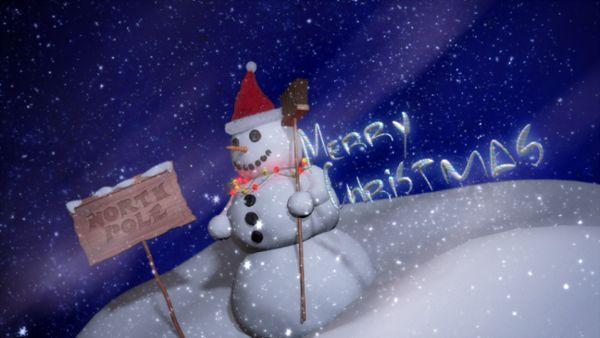 Snowman intro mit Alphamaske