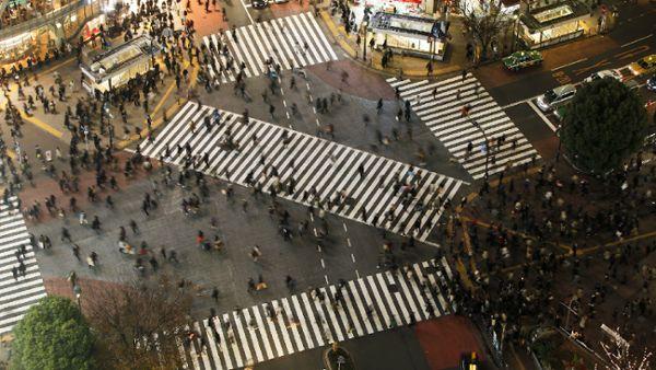 Crossing crowd people