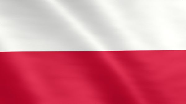 Animated flag of Poland