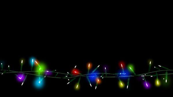 Bunte Lichterkette Bauchbinde