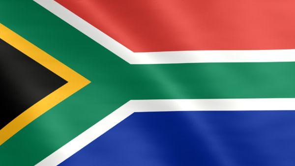 Animierte Flagge von Südafrika