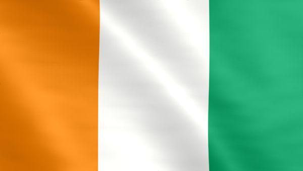 Animierte Flagge der Elfenbeinküste