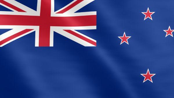 Animierte Flagge von Neuseeland
