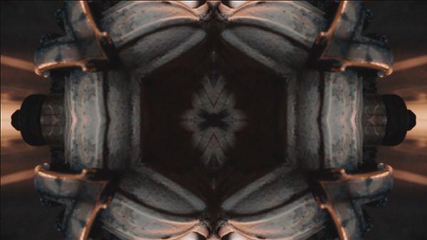Unfocused kaleidoscope shot of lights textures