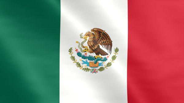 Animierte Flagge von Mexiko