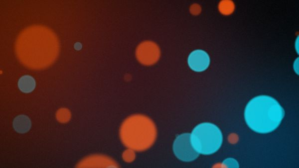 Blau Orange Bokeh (geloopt)
