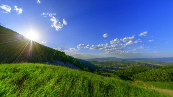 Vibrant Green Hills