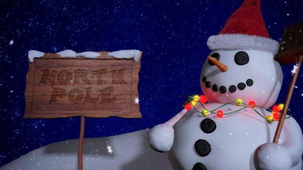 Snowman outro mit Alphamaske