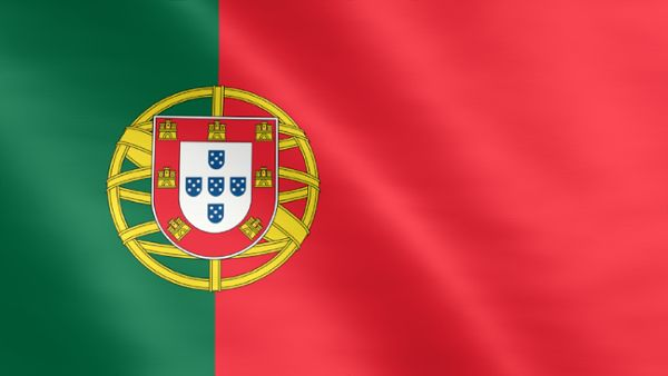 Animierte Flagge von Portugal